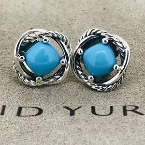David Yurman Infinity Earrings with Turquoise